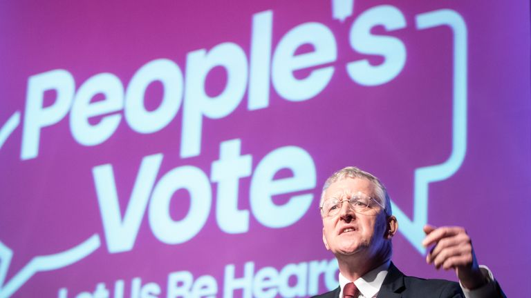 Hilary Benn called for the Labour Party to support a second referendum
