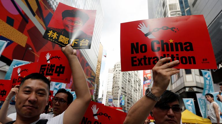 Mass Hong Kong protest against 'evil' extradition law