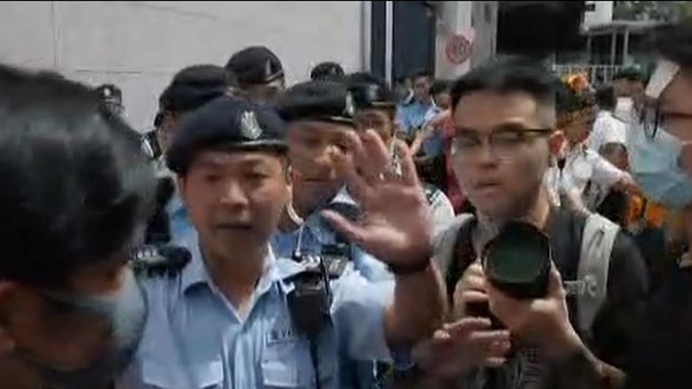 Tense times in Hong Kong between protesters and police