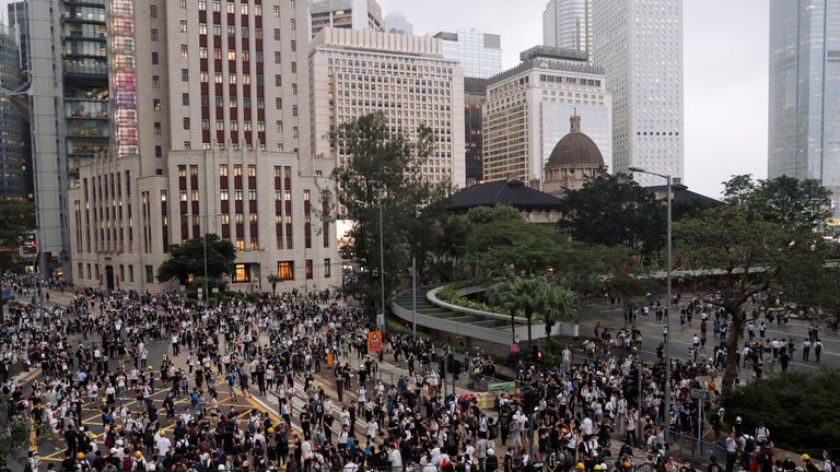 Tens of thousands of protesters took part in anti-extradition demonstrations