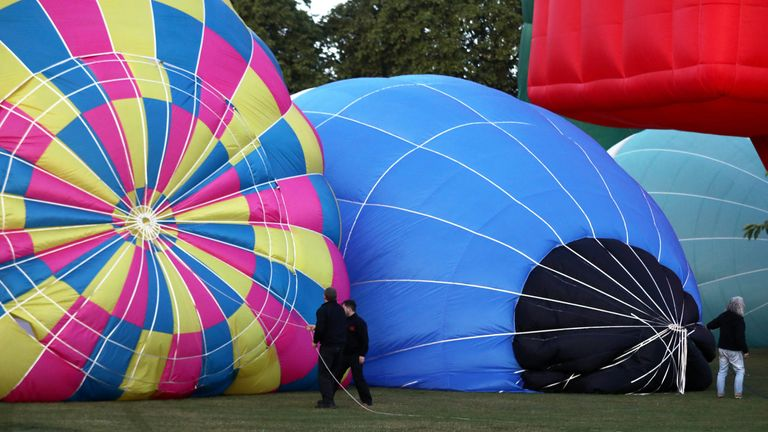 A total of 46 hot air balloons took off from Battersea Park at 5:15am on Sunday morning