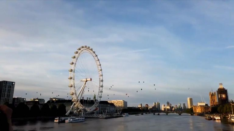 The Lord Mayor's Hot Air Balloon Regatta 2019 made for some stunning scenes as almost 50 balloons floated over the city