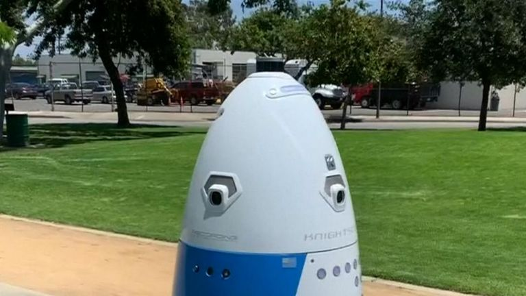 Police in Los Angeles debut their HP RoboCop moving surveillance camera