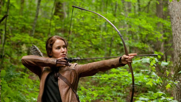 Jennifer Lawrence starred in the film adaptation of The Hunger Games and its sequels. Pic: Lionsgate/Murray Close