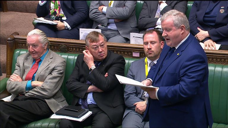 Ian Blackford was asked by the Speaker to withdraw claims of racism about Boris Johnson