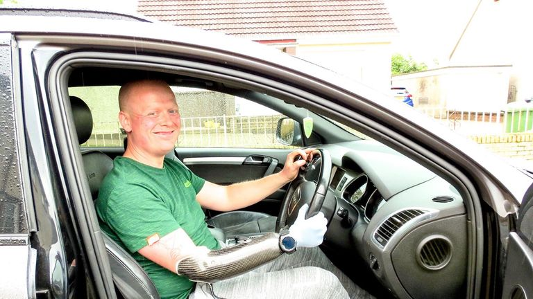 Ian McDonald says after adapting his steering wheel the DVLA confirmed he could still drive. Pic: Digby Brown