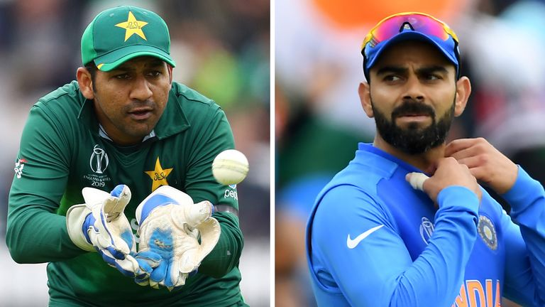 Pakistan and India are playing against each other during the Cricket World Cup
