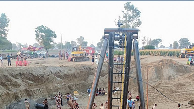 A parallel well was dug by authorities to try and save the toddler