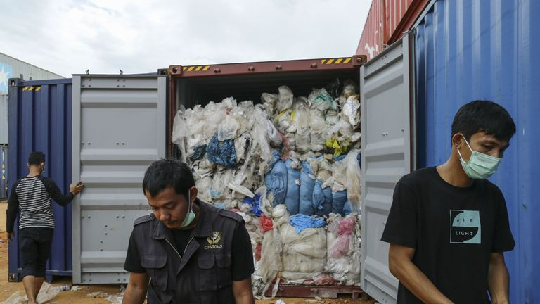 "Indonesia returned five containers of rubbish to the US and will not become a ""dumping ground"", officials said"