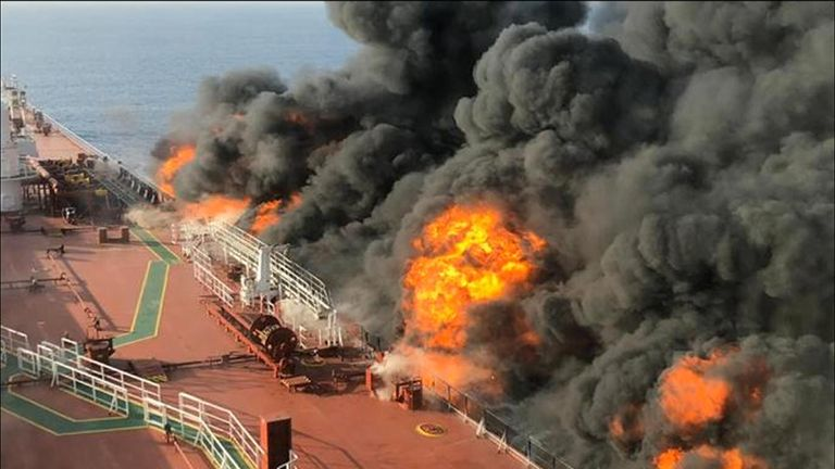 US oil tanker allegedly attacked by Iran