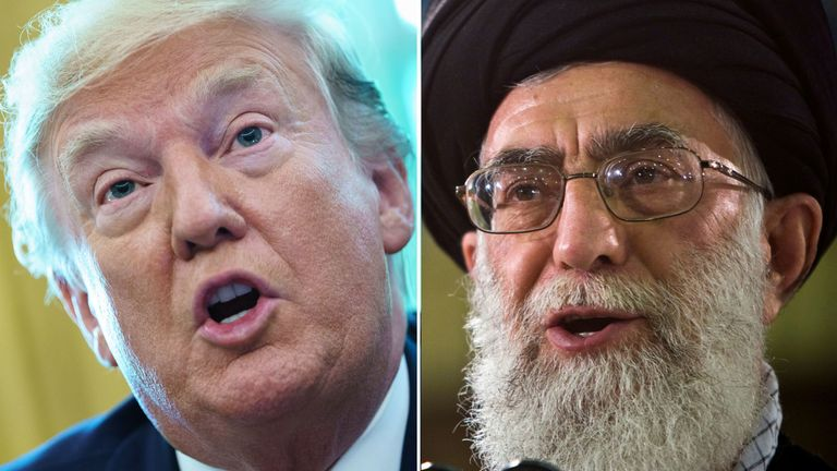 Donald Trump says the sanctions will target Ayatollah Ali Khamenei
