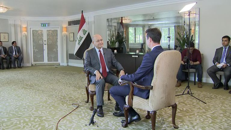 Speaking to Sky News, Barham Salih said that everything must be done to avoid another conflict in the Middle East