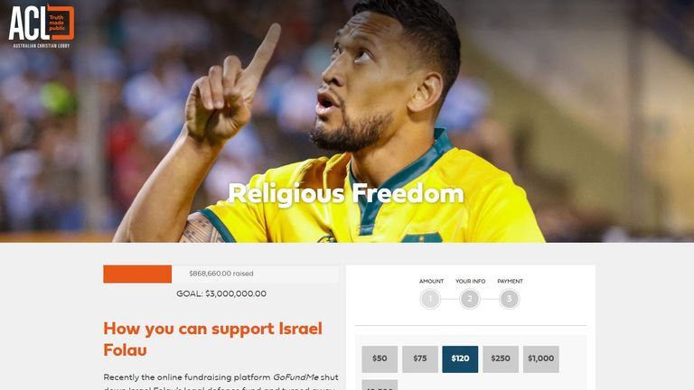 Israel Folau's cause has been adopted by the Australian Christian Lobby