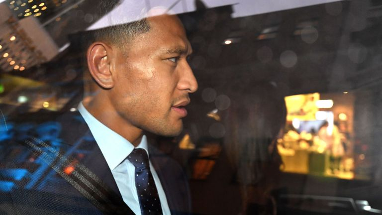 Sacked Israel Folau's crowdfunding page gets shut down