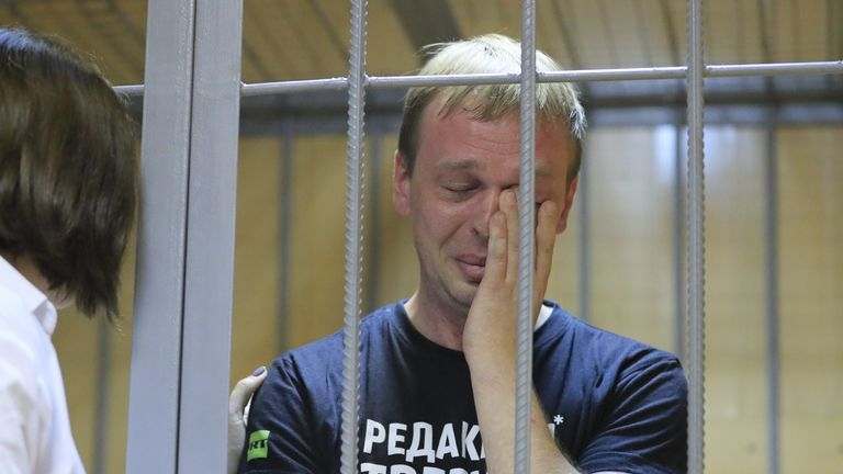Ivan Golunov broke down in tears from court on Saturday