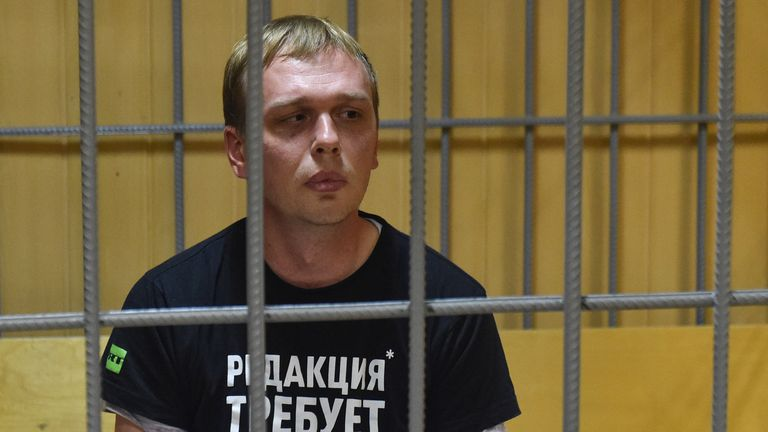 Arrest of Russian journalist sparks protests