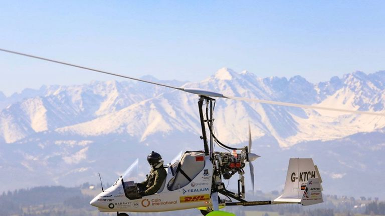 James Ketchell has flown halfway around the world in a gyrocopter