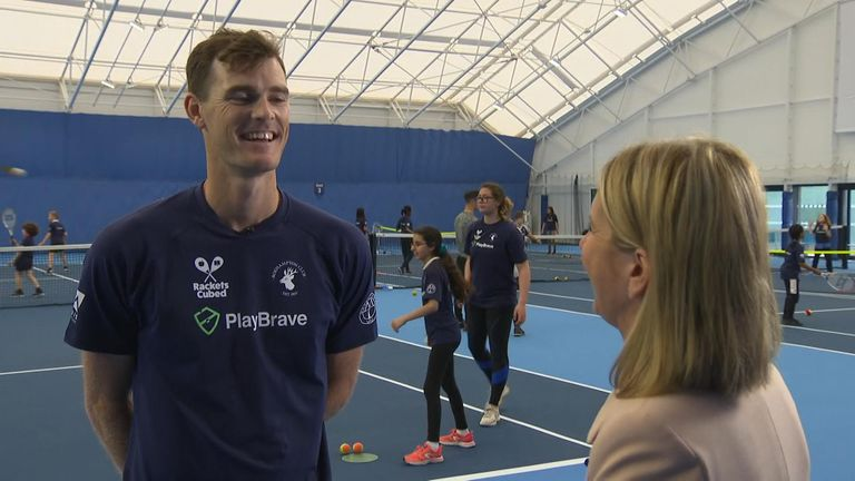 Six-time Grand Slam doubles winner Jamie Murray spoke to Sky News about the prospect of playing his brother Andy at Wimbledon