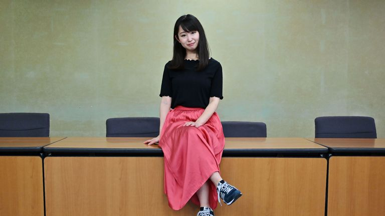 Ms Ishikawa is calling for a ban on workplaces forcing women to wear high heels