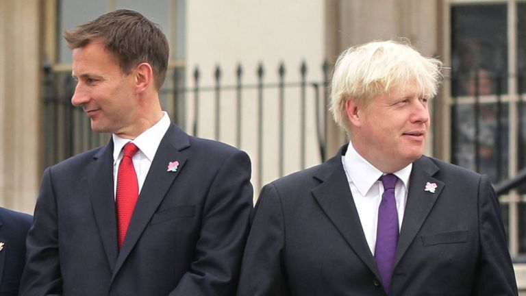 Jeremy Hunt and Boris Johnson pictured together in 2012
