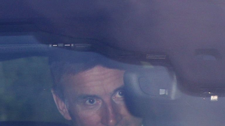 Jeremy Hunt arriving at the studios in east London
