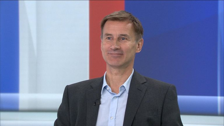 Foreign Secretary and Tory leadership contender Jeremy Hunt