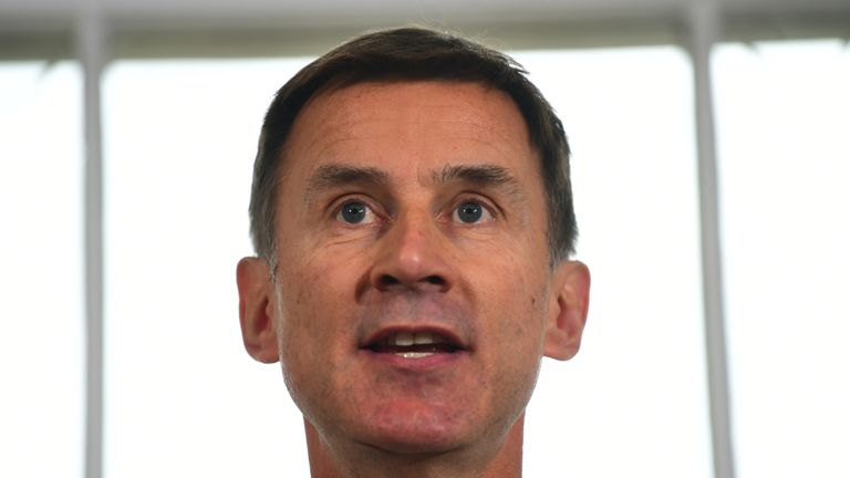 File photo dated 10/06/19 of Foreign Secretary Jeremy Hunt