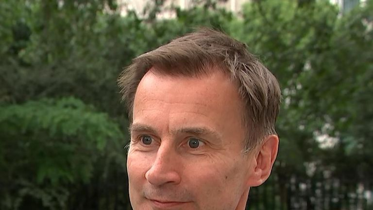 Hunt challenges Boris to 'turn up' on TV
