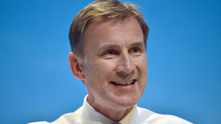 Jeremy Hunt has urged Conservative members not to elect a populist