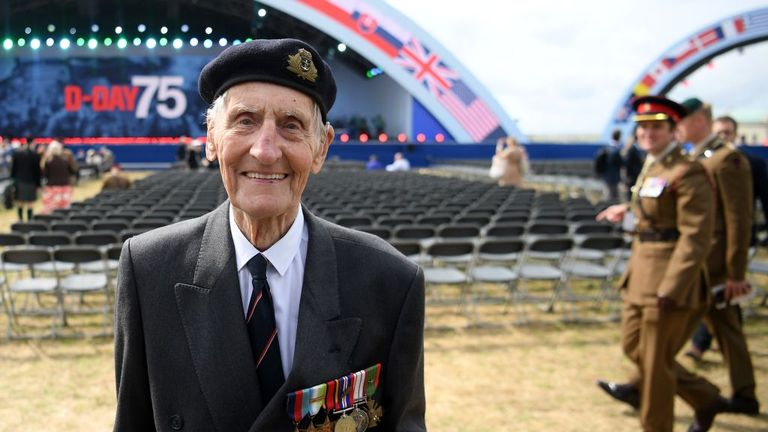 Jim Booth is one of around 300 veterans who attended the event