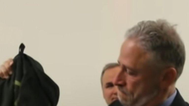 Footage shows moments before Jon Stewart's Congress plea