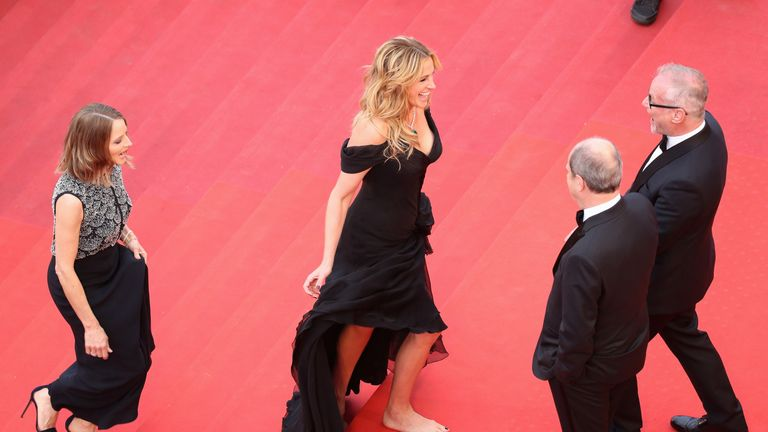 Julia Roberts famously walked the Cannes red carpet barefoot in protest against heels-only dress codes