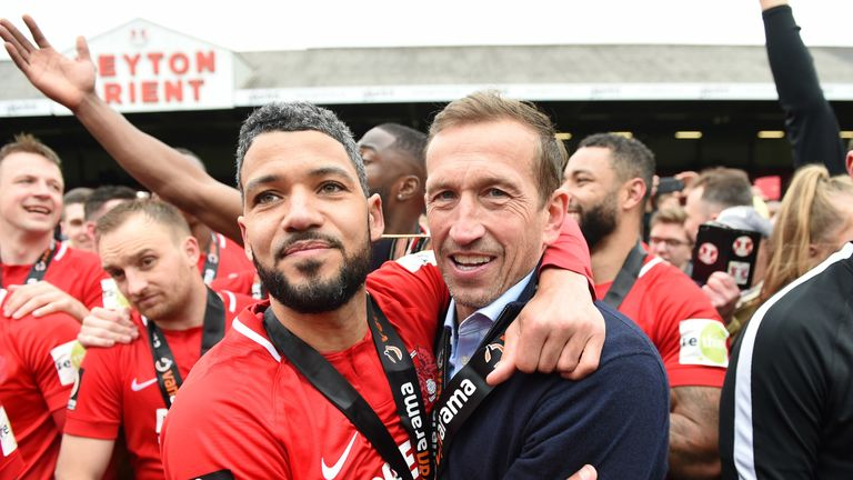 Edinburgh guided Leyton Orient to promotion from the National League
