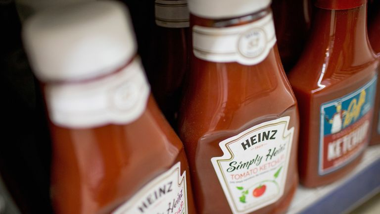 A woman was allegedly doused in ketchup by her partner