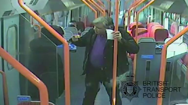 CCTV from the train
