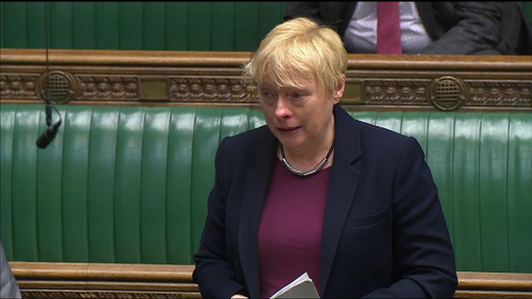 Labour's Angela Eagle makes an emotional plea to MPs to take action over LGBT teaching protests in Birmingham