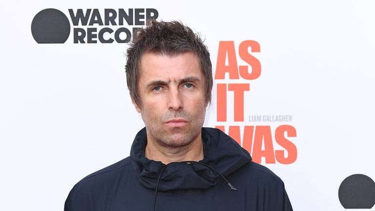 Liam Gallagher attends the World Premiere of Liam Gallagher: As It Was at Alexandra Palace