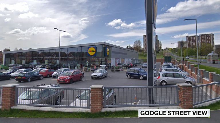 The liquid was thrown into the Lidl car park in Gipton