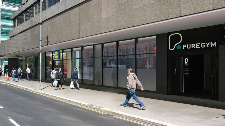 A CGI image of what the new store in Tottenham Court Road will look like. Pic: Lidl