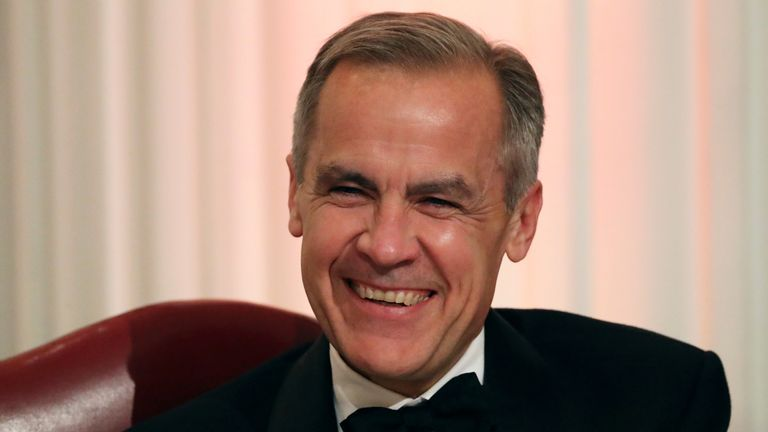 Governor of the Bank of England Mark Carney during the annual Bankers and Merchants Dinner at Mansion House in London