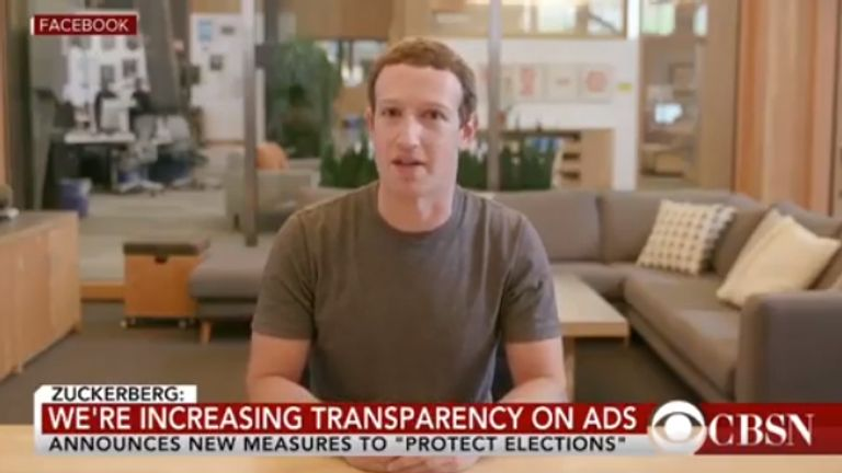 Mark Zuckerberg appears in a deepfake video