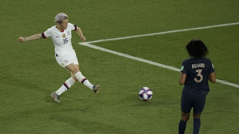 Rapinoe scores her second of the night