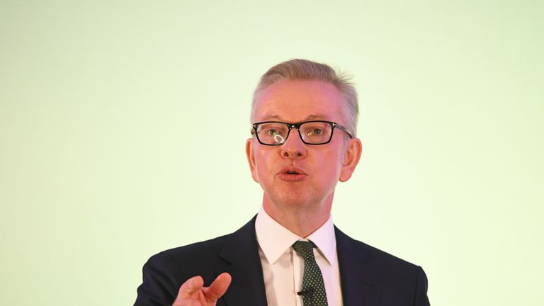 Environment Secretary Michael Gove launches his leadership campaign