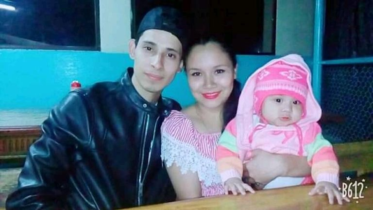 Mr Ramirez and his daughter Valeria pictured with his wife Tania. Pic: Family handout