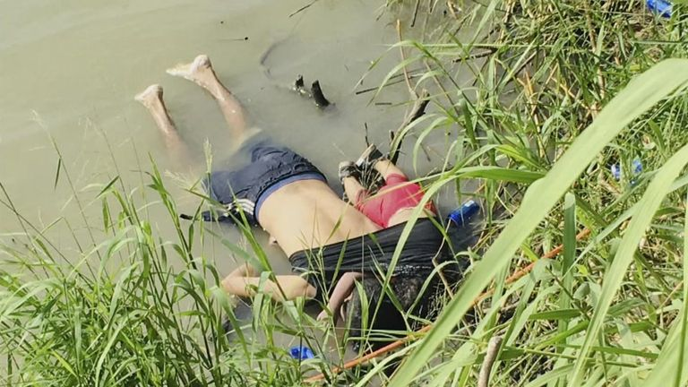 Outrage as dad and daughter's bodies lie face down in river - Warning: Distressing images