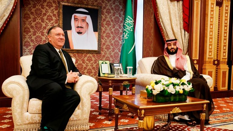 US Secretary of State Mike Pompeo has met with Crown Prince Mohammed bin Salman