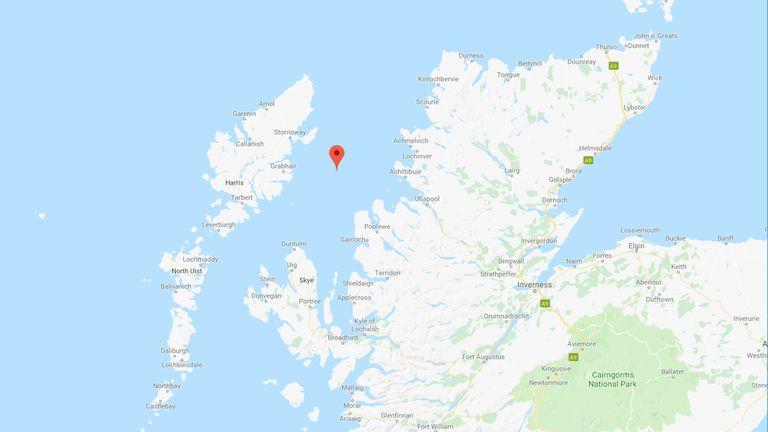 The Minch strait in northwest Scotland. Pic: Google
