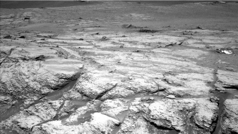 Curiosity explores an area of Mars called Teal Ridge. Pic: NASA/JPL-Caltech