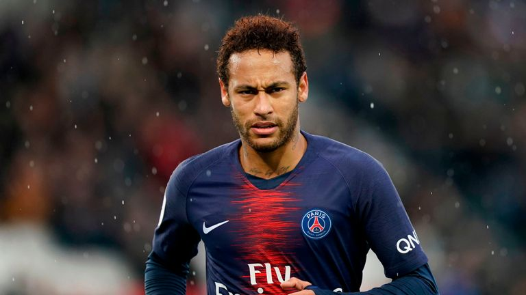 Neymar plays for French champions Paris Saint Germain