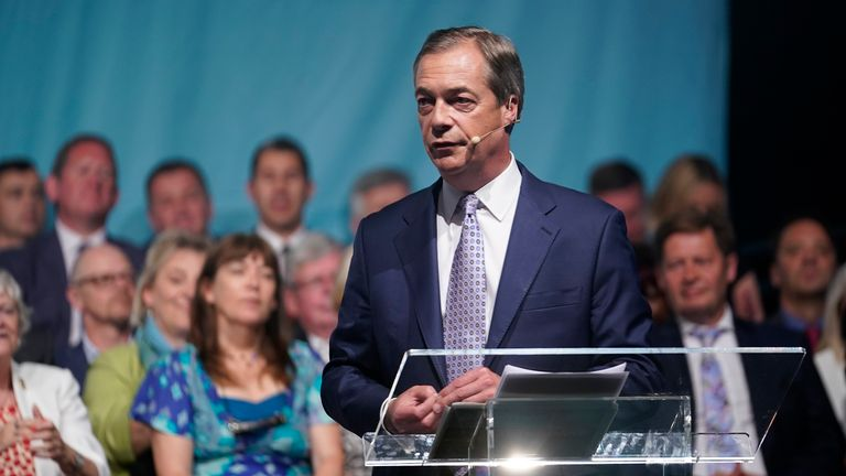 """Nigel Farage said the prospective MPs showed the party was """"not a protest movement"""""""